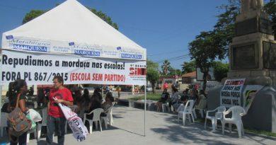Sintep participou de aula pública na manhã desta quinta-feira em Cajazeiras